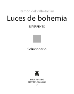G.D. LUCES DE BOHEMIA - ESPERPENTO (B.A.C.)