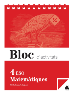 Bloc. Matemàtiques 4ESO. Ed2016