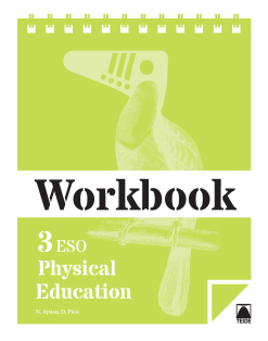 WORKBOOK PHYSICAL EDUCATION 3 ESO (ENGLISH)(2015)