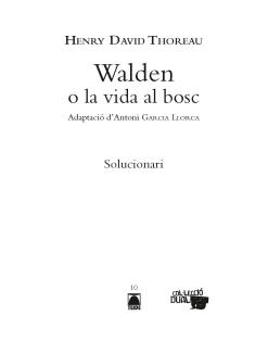 G.D. WALDEN O LA VIDA AL BOSC(ADAPTACIO COMICS)
