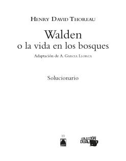 G.D. WALDEN O LA VIDA EN LOS BOSQUES(ADAP.COMICS)