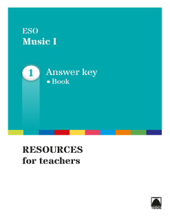 G.D. MUSIC I ESO (ENGLISH)