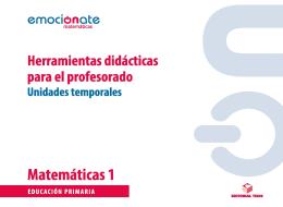 P.D. MATEMATICAS 1 EMOCIONATE: UT UNIDADES TEMP.