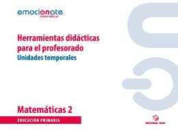 P.D. MATEMATICAS 2 EMOCIONATE: UT UNIDADES TEMP.