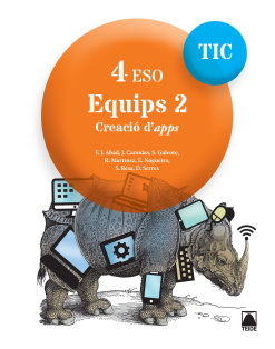 Equips 2.Creació d'apps 4 ESO (digital)